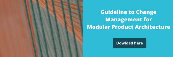 Guideline to change management for modular product architecture