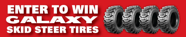 Enter to Win a Set of Four Galaxy Skid-Steer Tires
