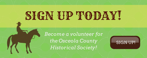 volunteer for the Osceola County Historical Society
