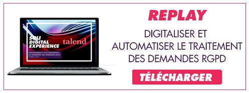 Visionnez le replay sur le webinar RGPD avec Talend