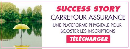 Téléchargez notre success story Carrefour Assurance