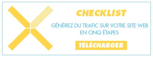 Télécharger la checklist générer du trafic sur votre site web en cinq étapes