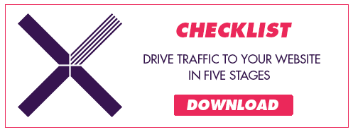 Download our checklist drive traffic to your website in five stages