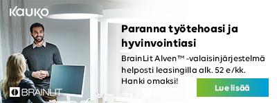 BrainLit Alven valaistuksella parannat työtehoasi ja hyvinvointiasi