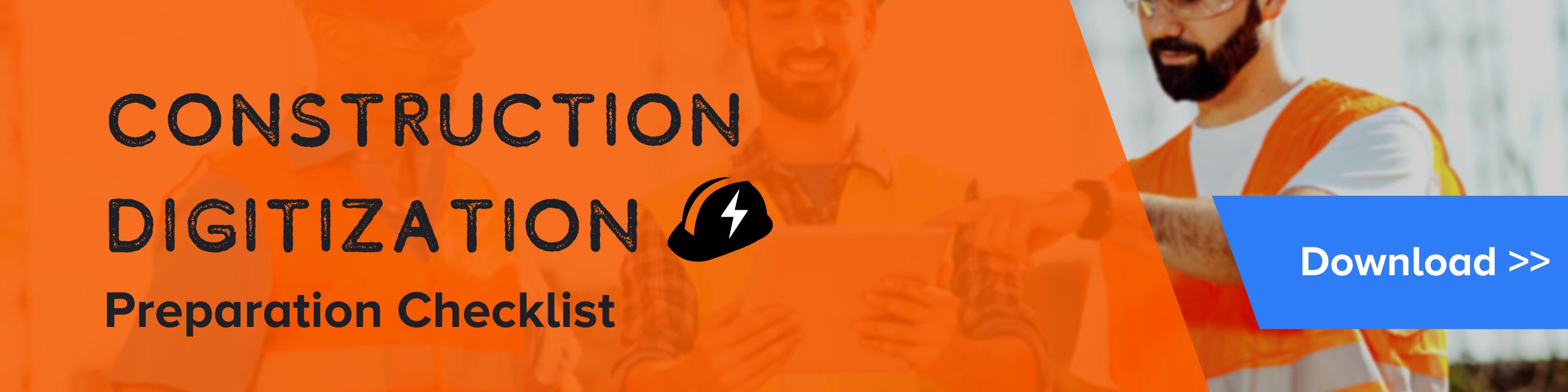 Download Free SPARK Resource - Construction Digitization Prepartion Checklist