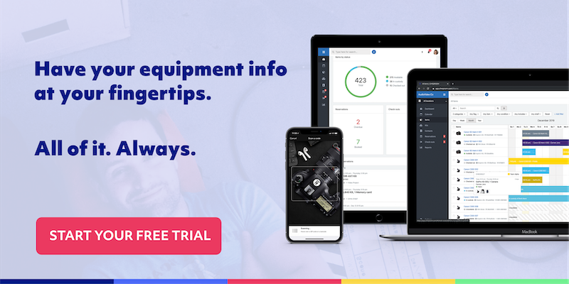 start a free trial with cheqroom