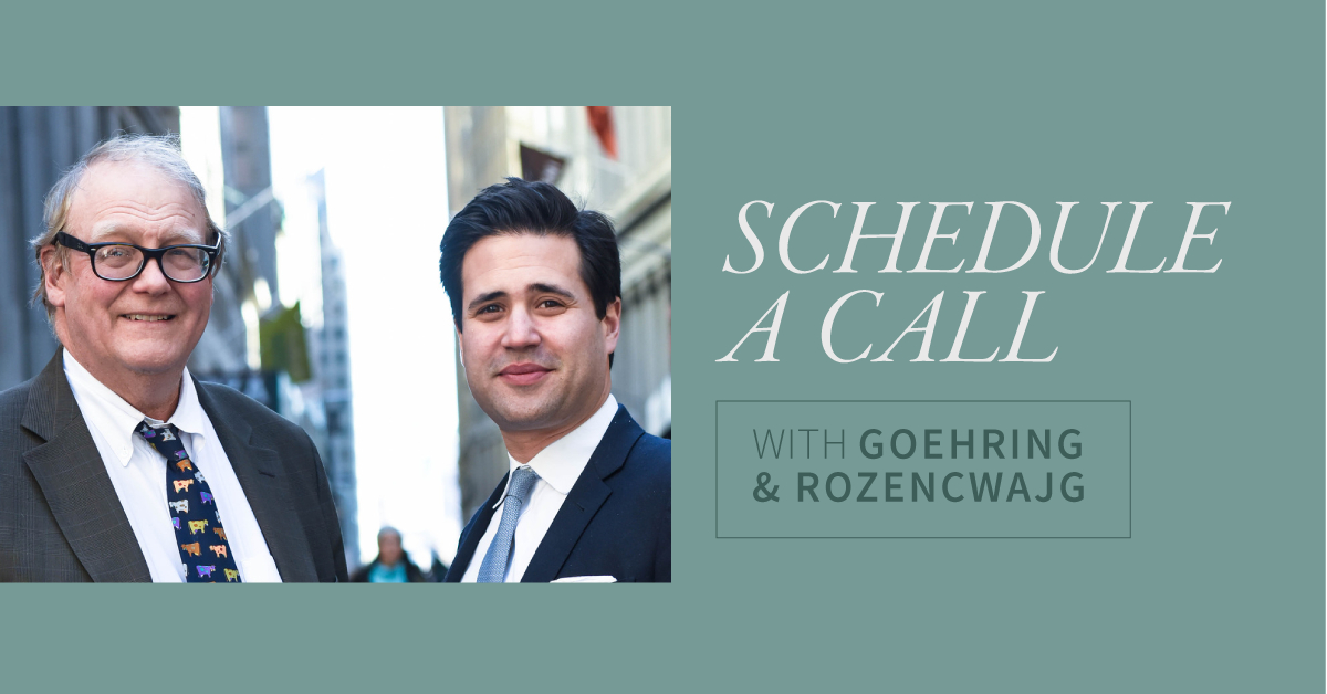 Schedule a Call with Goehring & Rozencwajg