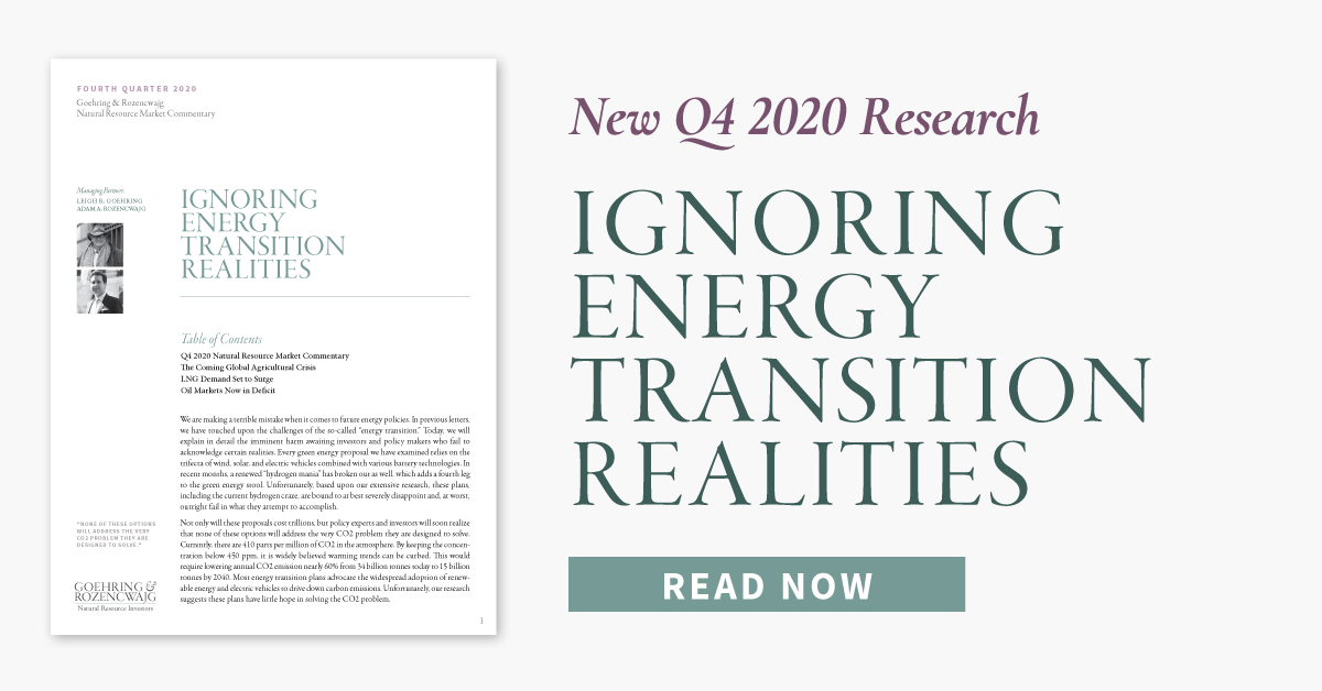 Q4 2020 Research: Ignoring Energy Transition Realities