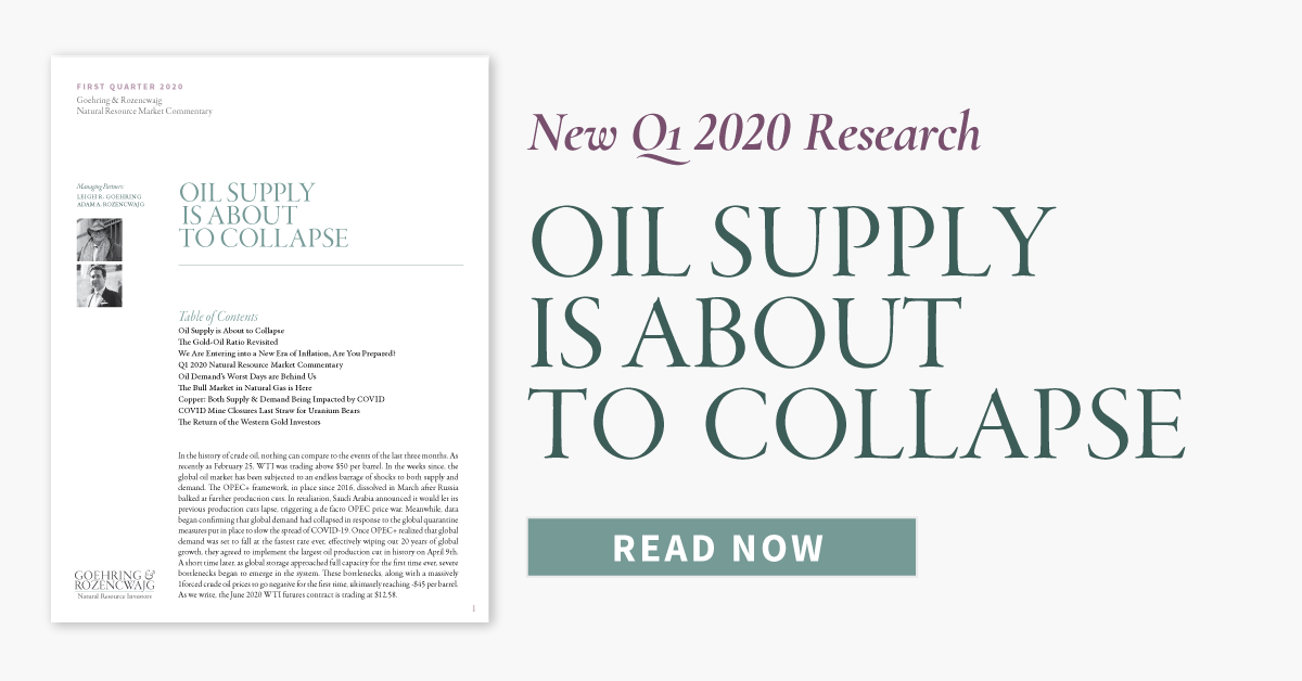 New Q1 2020 Research - Oil Supply is About to Collapse