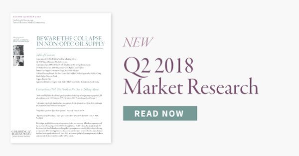 Goehring & Rozencwajg Q2 2018 Commentary