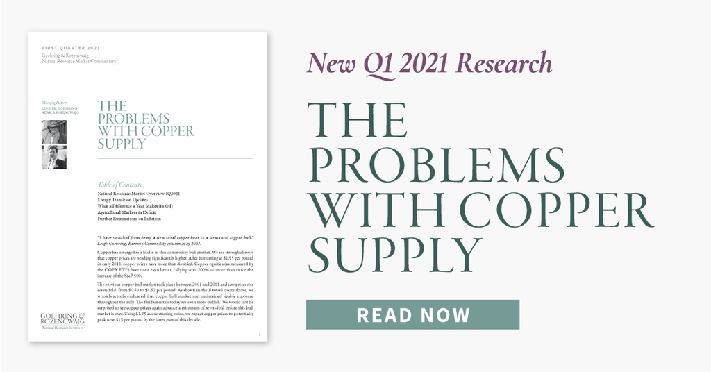 Q4 2021 Research: The Problems With Copper Supply