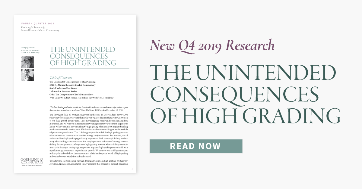 The Unintended Consequences of High Grading