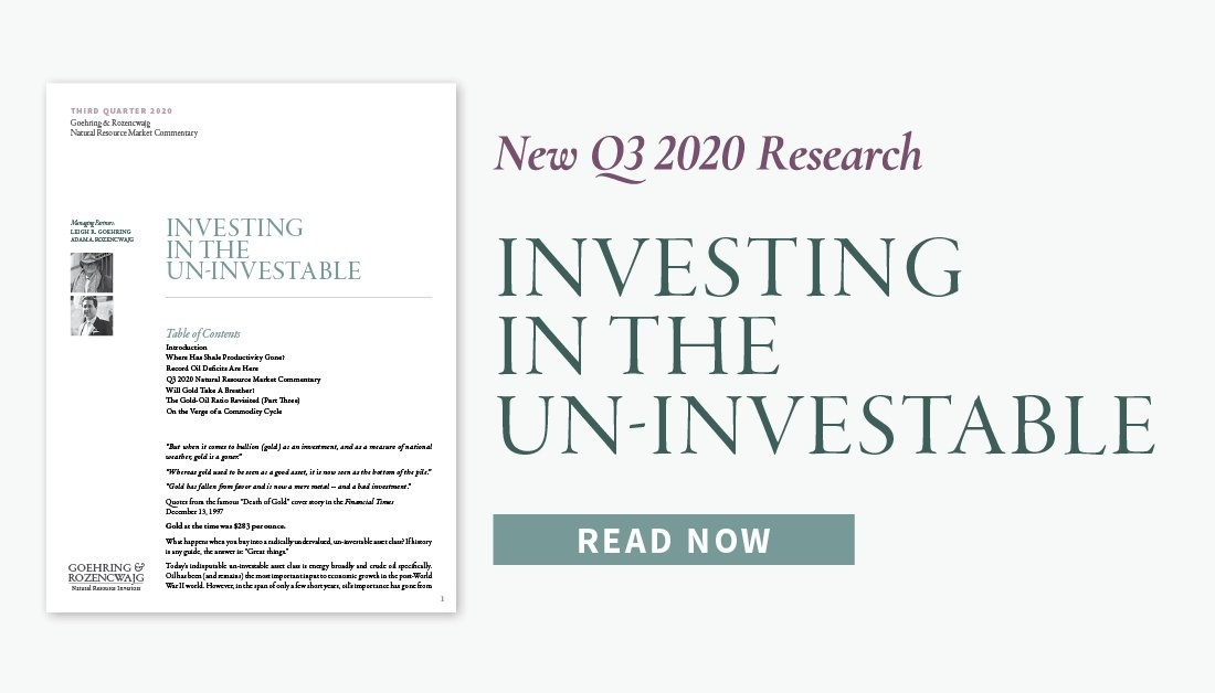 Q3 2020 Research: Investing in the Un-Investable