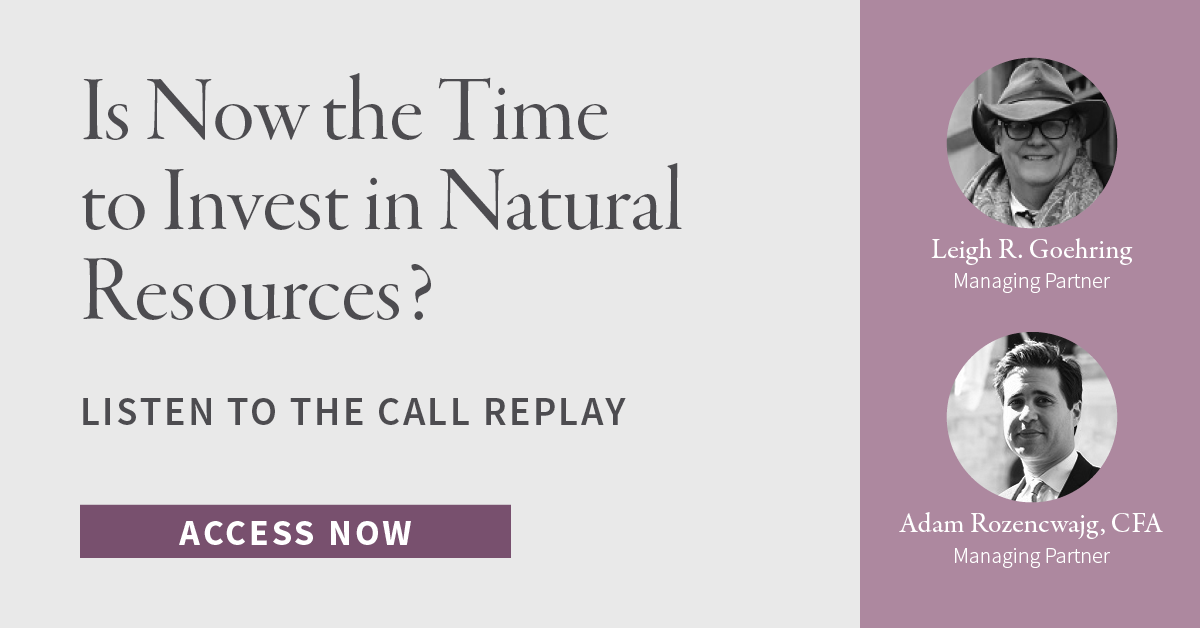 Nov. 2020 Call Replay: Is Now the Time to Invest in Natural Resources?