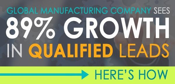 Manufacturing Company Sees 89% Growth in Qualified Leads: Here's How.