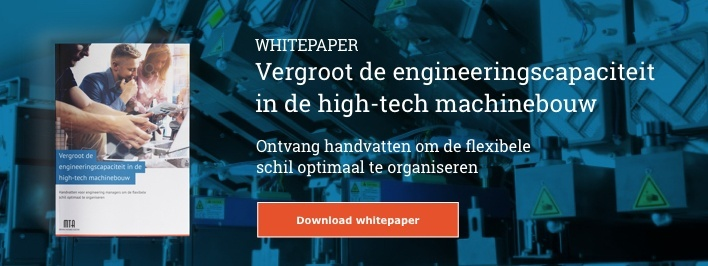 Vergroot de engineeringscapaciteit in de high-tech machinebouw