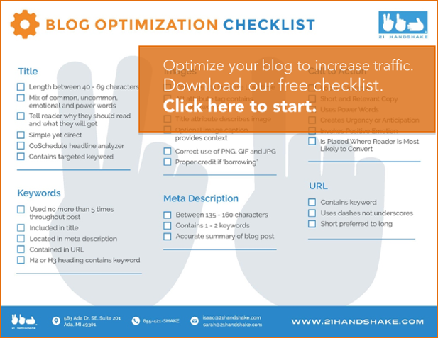 blog optimization easy checklist