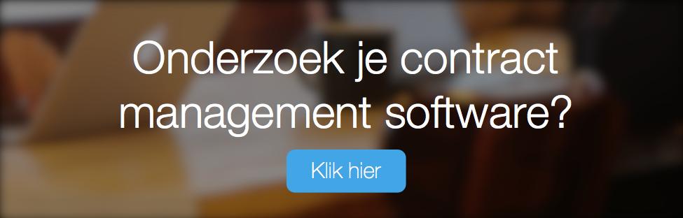 Onderzoek je Contract Management Software?
