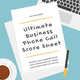 Get free Phone Call Score Sheet