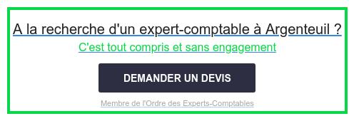 A la recherche d'un expert-comptable à Argenteuil ?  C'est tout compris et sans engagement  Membre de l'Ordre des Experts-Comptables DEMANDER UN DEVIS