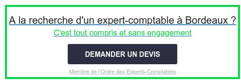 A la recherche d'un expert-comptable à Bordeaux ?  C'est tout compris et sans engagement  Membre de l'Ordre des Experts-Comptables DEMANDER UN DEVIS