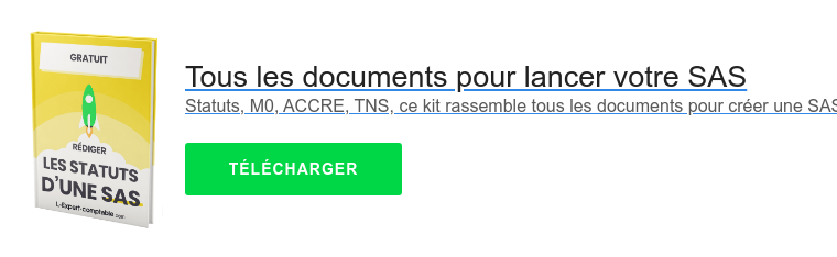 Tous les documents pour lancer votre SAS  Statuts, M0, ACCRE, TNS, ce kit rassemble tous les documents pour créer une SAS   TÉLÉCHARGER