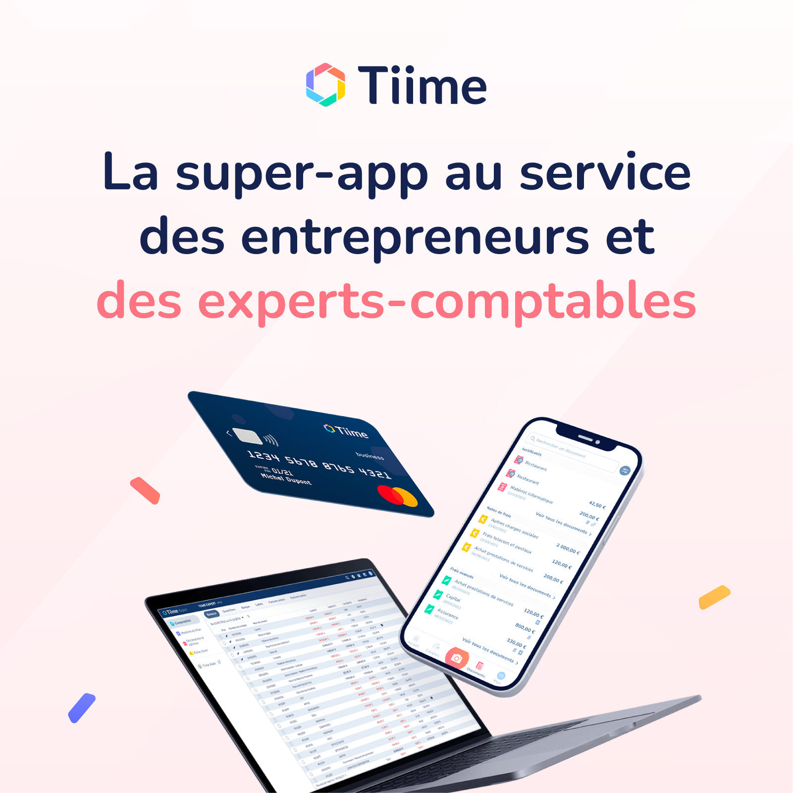 Tiime Accounts et Tiime Invoice