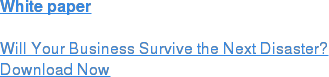 White paper  Will Your Business Survive the Next Disaster? Download Now