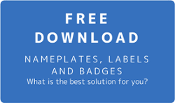 Free download for nameplates, labels and badges