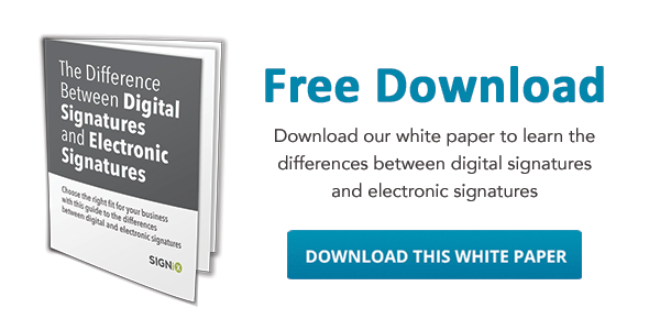 download our white paper on the differences between digital signatures and electronic signatures