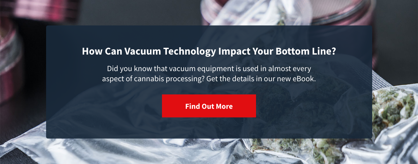 Cannabis processing: How can vacuum technology impact your bottom line?