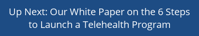 Up Next: Our White Paper on the 6 Steps to Launch a Telehealth Program