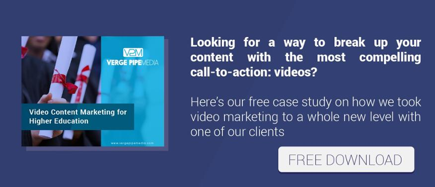 video content marketing for higher education