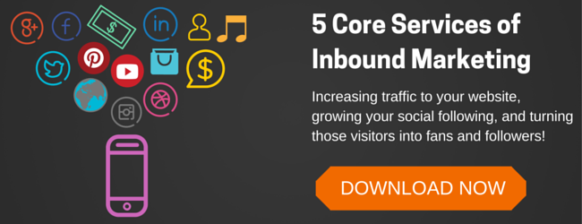 5 Core Services of Inbound Marketing CTA