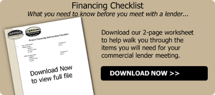 Financing Checklist Request-Commercial Lending