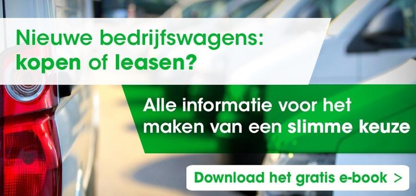 Bedrijfswagens kopen of leasen? Lees meer hierover in ons e-book