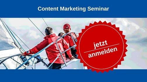 Content Marketing Seminar - jetzt anmelden