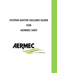 System Water Volume Guide