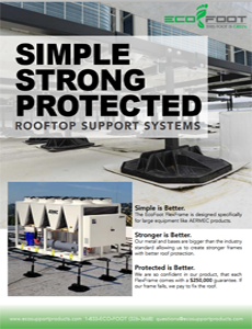 Aermec + EcoFoot Rooftop Support Systems