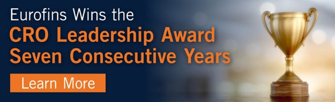 Eurofins Wins the CRO Leadership Award Seven Consecutive Years