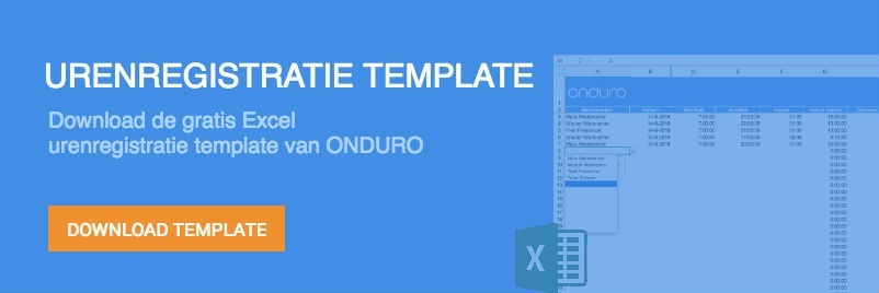 urenregistratie template gratis download excel
