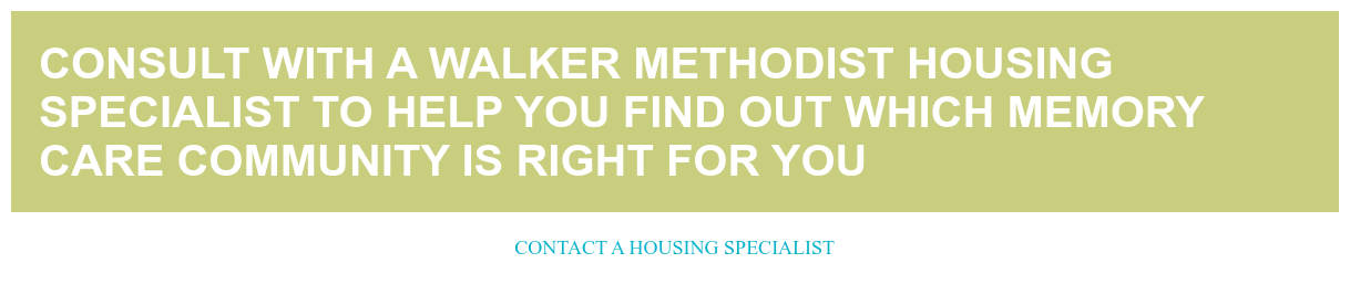 Consult with a Walker Methodist Housing Specialist
