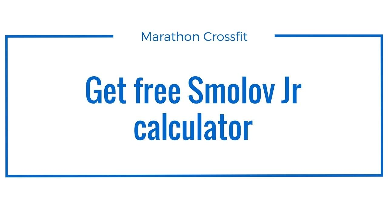 Get the free Smolov Jr Calculator