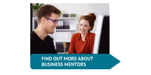 simple button find out about business mentors