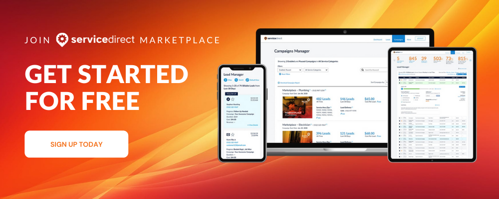 Service Direct Marketplace - Create An Account