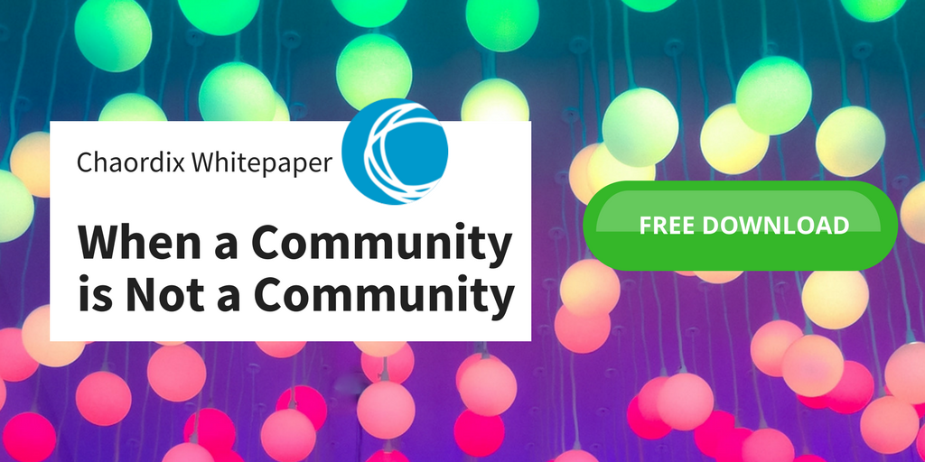 When a Community is not a Community whitepaper
