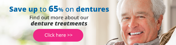 save up to 65% on dentures