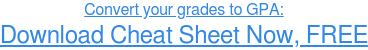 Convert your grades to GPA: Download FREE Cheat Sheet
