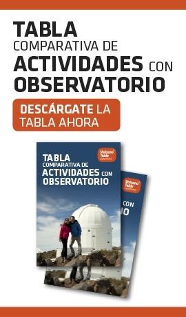 Tabla comparativa de actividades con Observatorio
