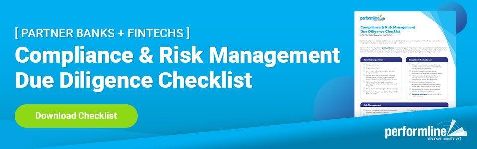 partner bank fintech due diligence guidance checklist
